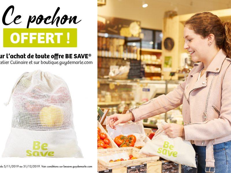 Un pochon offert pour l'achat d'une offre Be Save